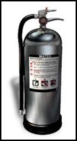 fire extinguisher air-pressurized water