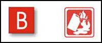 class b extinguisher label
