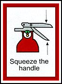 squeeze the handle