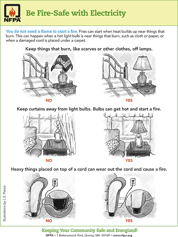 Be Fire Safe with Electricity
