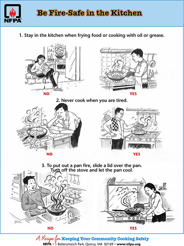 Be Fire Safe in the Kitchen