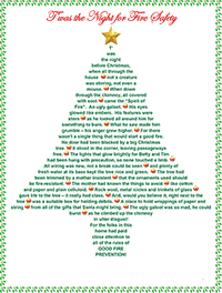Christmas fire safety poem